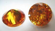 1 synthetische Steine 8,0 mm  Gelb Sappire Gold #22 Corundum Korund Mohshärte 9