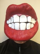 Big Teeth Red Lips Smile Smiley Grin Mask Latex Fancy Dress Stag Hen Costume