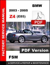 BMW 2003 2004 2005 Z4 WORKSHOP OEM SERVICE REPAIR FACTORY MANUAL