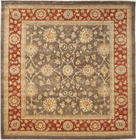 8X10 Hand-Knotted Oushak Carpet Traditional Grey Fine Wool Area Rug D38791