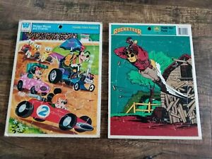 Mickey Mouse and Friends Rocketeer  Frame-Tray Puzzle Lot Whitman + Vintage