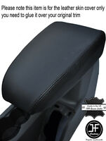 BLACK STITCHING LEATHER ARMREST COVER FITS FORD FOCUS MK2 2005-2008