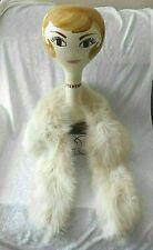 Vtg Faux Fur Winter White Warm Neck Collar For Sweater/Coat/ - Satin Lining  EUC