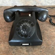ERICSON RUEN PTT VINTAGE ROTARY PHONE BAKELITE BLACK BEAUTIFUL! 1962 PROP