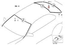 Genuine BMW Windshield Moulding Trim Seal Rear Upper OEM 51318172755