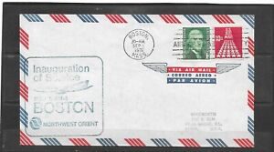 1971 Northwest Orient AM-3 First Flight Air Mail Cover, Boston - Twin City, MN