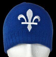Quebec Canada Old Tuque Beanie Winter Ski Hat Fleur De Lys Chapeu D'hiver