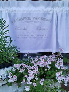 Scheibengardine Bistrogardine Vorhang Schrift Frankreich Shabby Landhaus Weiß