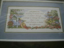 Dimensions God Grant Me Serenity Stamped Cross Stitch Kit-16x8 Inches