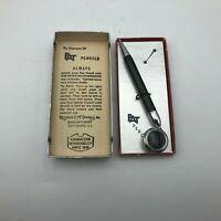 Vintage Ketcham McDougall Pat Retractable Pencil Black w/Silver Tone XY4