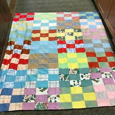 Vintage Patchwork Quilt made in Montevideo, MN 1998- Flying Geese Quilters