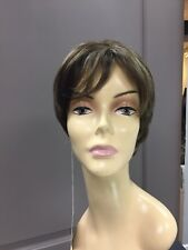 Forever Young MERCEDES Short Shag HD Synthetic Wig, Golden Brown Highlights