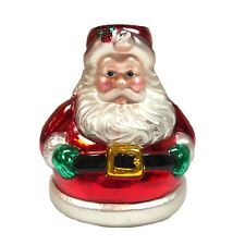 Dept 56 Santa Claus blown glass taper candlestick holder holiday Christmas decor
