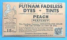 Putnam Peach Fabric Clothes Dye