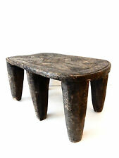 """Superb Old African Nigerian Nupe Milk Stool with six legs 17"""" w by 9"""" h"""
