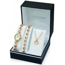 Sekonda White Dial Gold Bracelet Ladies Watch Gift Set 4937G