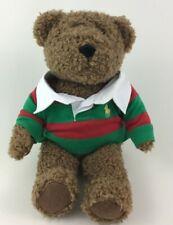 "Ralph Lauren New York Brown 13"" Plush Stuffed Teddy Bear with Polo Shirt 2005"