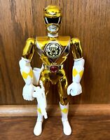 "Yellow Ranger Vintage Power Rangers Movie 8"" Action Figure Complete 1995 Bandai"