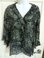 Women's CHICO'S  D-E-S-I-G-N Silk 3/4 Sleeve Blouse, Size 2 (=Size 12)