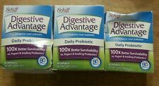 3x Schiff Digestive Advantage Daily Probiotic 130 Capsules Total