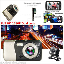 X500 4.0'' Car DVR Full HD 1080P Dual Lens+ Rear View Camera Dash Cam G-sensor