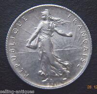 FRANCE 1919  Semeuse, 2 Francs Paris, KM #845.1  SILVER HIGH GRADE COIN