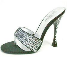 "Italy black Diamond Plateau Designer High Heels ""Black Clermont""  Gr.43"