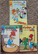 EL PAJARO LOCO COMIC LOT OF 3, MEXICO, COMO HOMBRE ARANA, SUPERMAN, KALIMAN