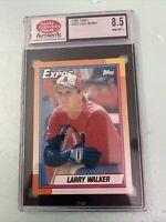 Larry Walker 1990 Topps Rookie Card #757 RC Graded Mint SCD 8.5