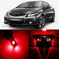8 x Ultra Red LED Lights Interior Package For Honda CIVIC 2013 - 2014 + PRY TOOL