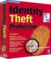Identity Theft Protector by Broderbund, CDROM Only,  Windows 98SE Me 2000 XP W7