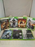 XBOX 360 7 Game Bundle: Medal of Honor, Skyrim, Halo 4, Fable III...