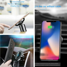 2IN1 360° Car Wireless Charger+Phone Cradles Magnetic Air outlet/Smooth Surface