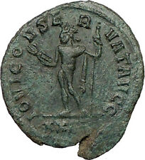 DIOCLETIAN 285AD Ancient  Roman Coin Nude JUPITER w thunderbolt  i21798