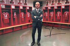 Pep Guardiola legend signed 12x8 photo Image B UACC AFTAL Registered Dealer COA