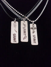 Custom Name Memorial Remembrance Memory Remember Personalized Aluminum Necklace