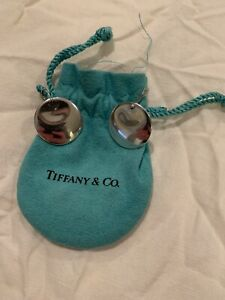 Tiffany & Co. Elsa Peretti Sterling Silver Round Disc Drop Dangle Earrings