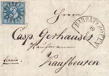 Bayern, 3 Kreuzer blau, MiNr. 2 II, Brief aus Harbratzhofen, gMR 179