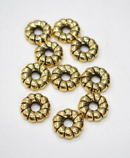 Beads Gold Fluted Donut Beads 18mm