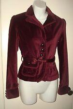 Goth Victorian Steampunk Velvet Burgundy Jacket / Blazer / Coat Top Sz XS/S