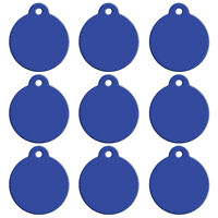 20pcs Blank Custom Personalised Pet Cat Puppy Dog Tags Disc ID Name Collar Tag