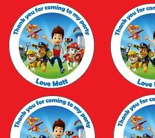 Personalised Paw Patrol 45mm Birthday Stickers Party Thank You Seals