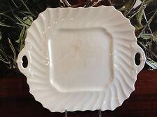 COPELAND / SPODE - White Plain - eckige Gebäckplatte mit Griffe