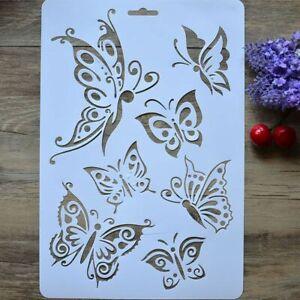 Large Butterfly Butterflies Craft Plastic Stencil Reusable Mylar Stencils