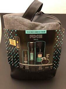 AXE Apollo Shower Gift Dopp Kit Body Spray Body Wash Pouf Shampoo Conditioner