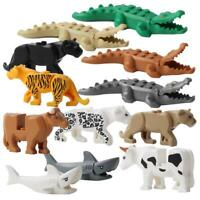 12pcs Krokodil Tiger Kuh Tier Baustein Modell Kinder baubares LEGO Spielzeug