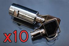 10  Universal Tubular Soda Snack Vending Machine Cylinder Plug Lock NEW