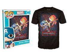 49-XL: Funko POP! Tees Marvel Captain America Iron man Civil War T-shirt, XLarge