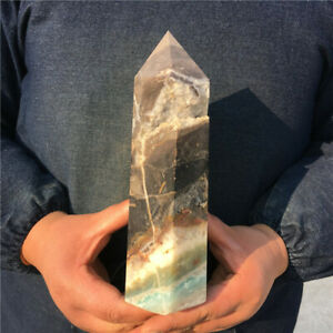 1270g Top!Natural Tianhe stone Quartz Obelisk crystal wand cure healing