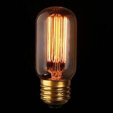 E27 60W Vintage Antique Edison Incandescent Bulb Clear Glass 220V/110V